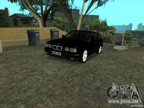 BMW E34 535i Touring pour GTA San Andreas sur la vue arrière gauche