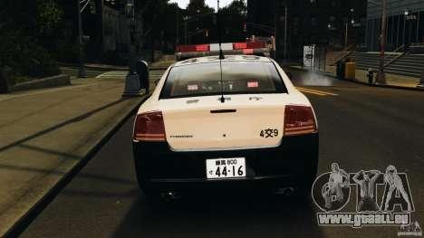 Dodge Charger Japanese Police [ELS] für GTA 4 obere Ansicht