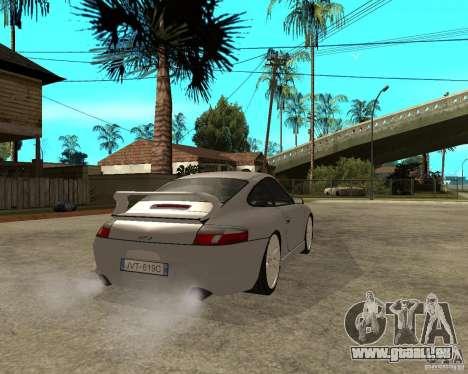 Porsche GT3 pour GTA San Andreas sur la vue arrière gauche