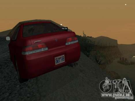 Honda Prelude Sport pour GTA San Andreas vue de dessus