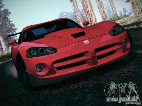 Dodge Viper SRT-10 ACR pour GTA San Andreas moteur