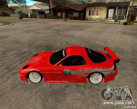 Mazda RX7 FnF für GTA San Andreas linke Ansicht