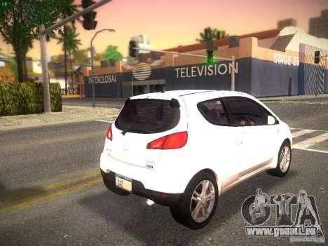 Mitsubishi Colt Rallyart pour GTA San Andreas sur la vue arrière gauche