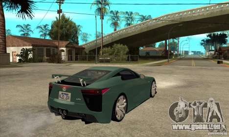 Lexus LFA 2010 für GTA San Andreas rechten Ansicht