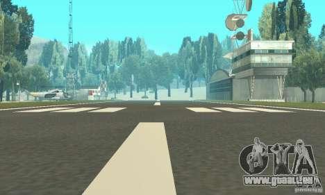Einem verlassenen Flughafen in der Wüste für GTA San Andreas