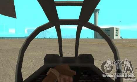 Hunter - AH-1Z Cobra für GTA San Andreas rechten Ansicht