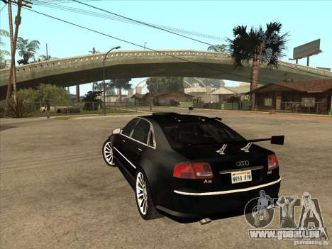 Audi A8 Tuned für GTA San Andreas zurück linke Ansicht