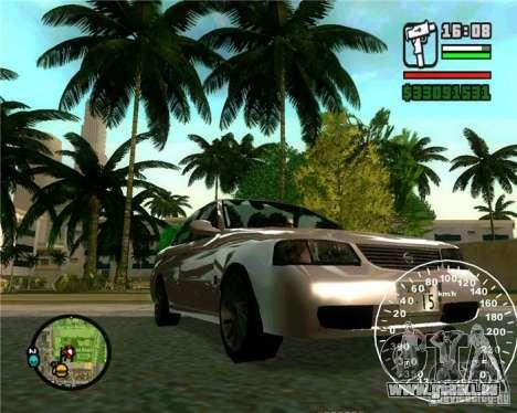 Nissan Sunny pour GTA San Andreas sur la vue arrière gauche