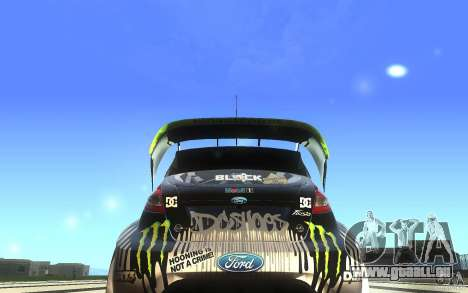 Ford Fiesta Gymkhana pour GTA San Andreas vue de droite