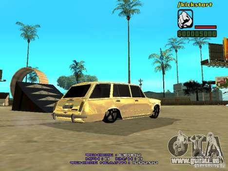 VAZ 2102 Gold für GTA San Andreas zurück linke Ansicht