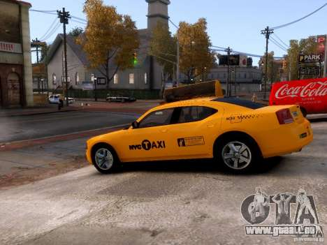 Dodge Charger NYC Taxi V.1.8 für GTA 4 Seitenansicht