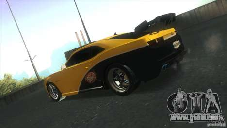 Chevrolet Camaro SS Dr Pepper Edition für GTA San Andreas obere Ansicht