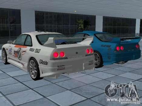 Nissan Skyline R 33 GT-R für GTA San Andreas Unteransicht