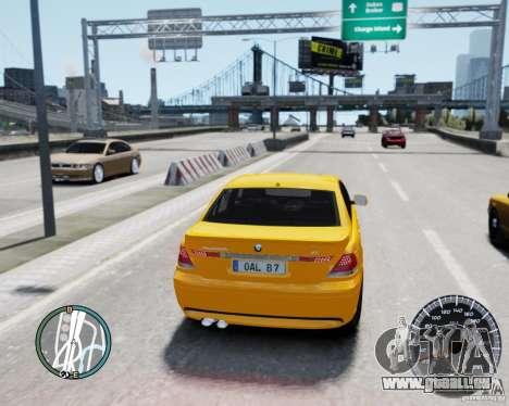 BMW Alpina B7 für GTA 4 hinten links Ansicht
