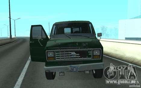 Ford E-150 Short Version v2 pour GTA San Andreas sur la vue arrière gauche