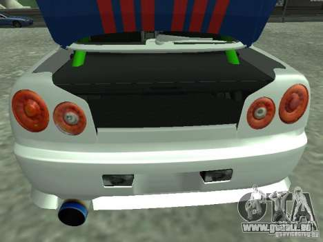 Nissan Skyline Indonesia Police pour GTA San Andreas vue arrière