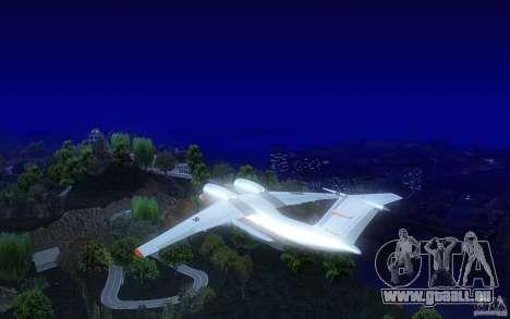 Antonov 74 für GTA San Andreas zurück linke Ansicht