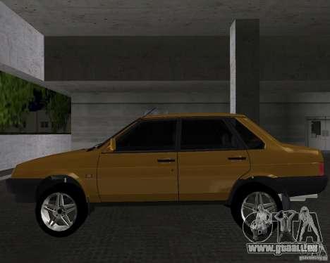 VAZ 21099 léger à l'écoute pour une vue GTA Vice City de la gauche