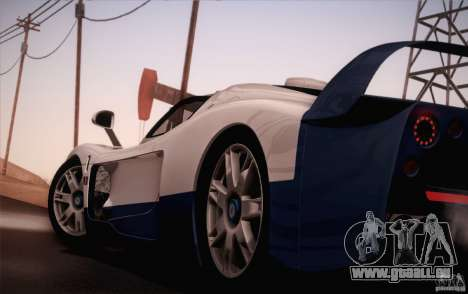 Maserati MC12 V1.0 pour GTA San Andreas vue de dessous