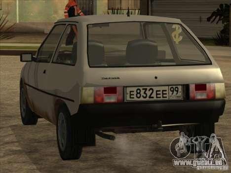 ZAZ Tavria 1102 pour GTA San Andreas sur la vue arrière gauche