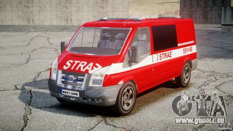 Ford Transit Polish Firetruck [ELS] pour GTA 4 est un droit