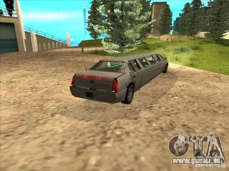 Cadillac DTS 2008 Limousine pour GTA San Andreas laissé vue