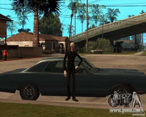 Slender en lunettes noires pour GTA San Andreas cinquième écran