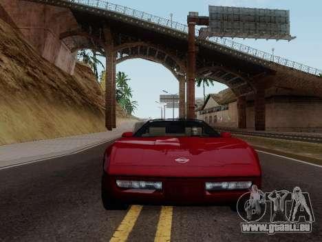 Chevrolet Corvette C4 1984 für GTA San Andreas Rückansicht