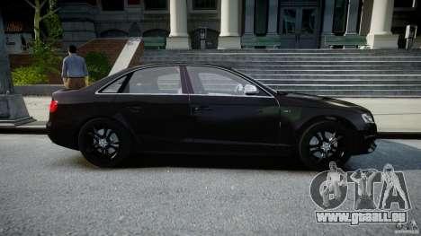 Audi S4 Unmarked [ELS] pour GTA 4 est une vue de l'intérieur