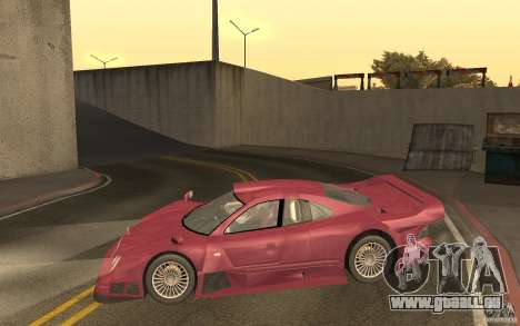 Mercedes-Benz CLK GTR road version (v2.0.0) für GTA San Andreas linke Ansicht
