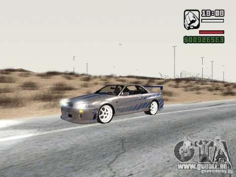 Nissan Skyline GTR34 FNF2 für GTA San Andreas