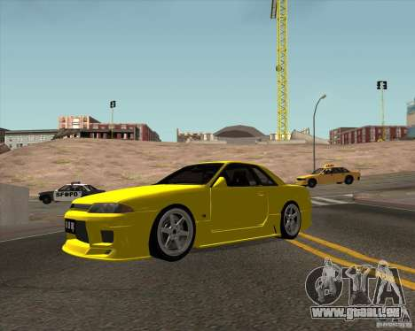 Nissan Skyline R32 Bee R pour GTA San Andreas laissé vue