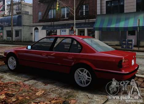 BMW 750i E38 1998 M-Packet pour GTA 4 est une vue de dessous