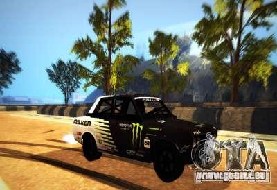 Datsun 510 Monster Energy für GTA San Andreas linke Ansicht