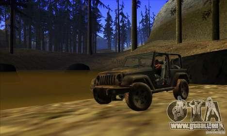 Jeep Wrangler pour GTA San Andreas laissé vue