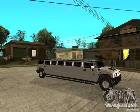 AMG H2 HUMMER 4x4 Limusine pour GTA San Andreas vue de droite