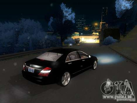 Mercedes-Benz S600 für GTA San Andreas Unteransicht