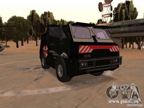 AM 7.0 Umbrella Corporation pour GTA San Andreas vue arrière