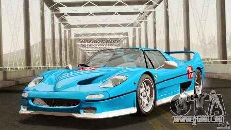 Ferrari F50 v1.0.0 Road Version pour GTA San Andreas vue intérieure