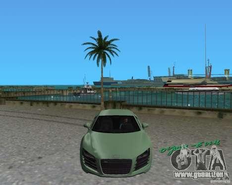 Audi R8 4.2 Fsi pour une vue GTA Vice City de la droite