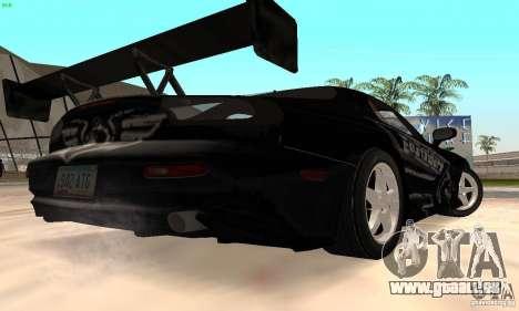 Mazda RX7 Tuned pour GTA San Andreas vue arrière