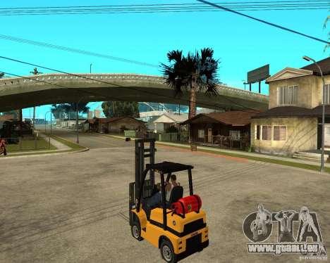 Forklift GTAIV für GTA San Andreas linke Ansicht