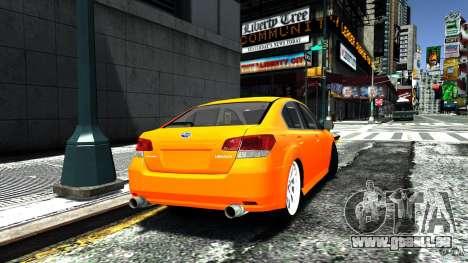 Subaru Legacy B4 pour GTA 4 est une gauche