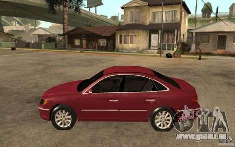 Hyundai Azera 2009 pour GTA San Andreas laissé vue
