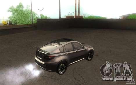 Bmw X6 M Lumma Tuning für GTA San Andreas rechten Ansicht
