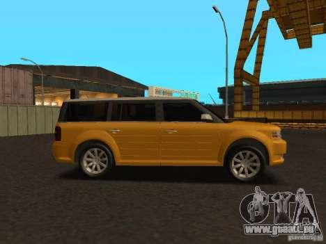Ford Flex pour GTA San Andreas sur la vue arrière gauche