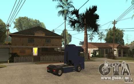 MAN TGX V8 für GTA San Andreas rechten Ansicht