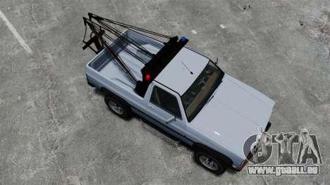 Rancher Tow Truck ELS für GTA 4 rechte Ansicht