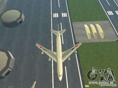 Boeing 747-100 Japan Airlines für GTA San Andreas Innenansicht