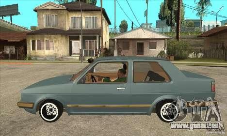Volkswagen Jetta MKII VR6 pour GTA San Andreas laissé vue